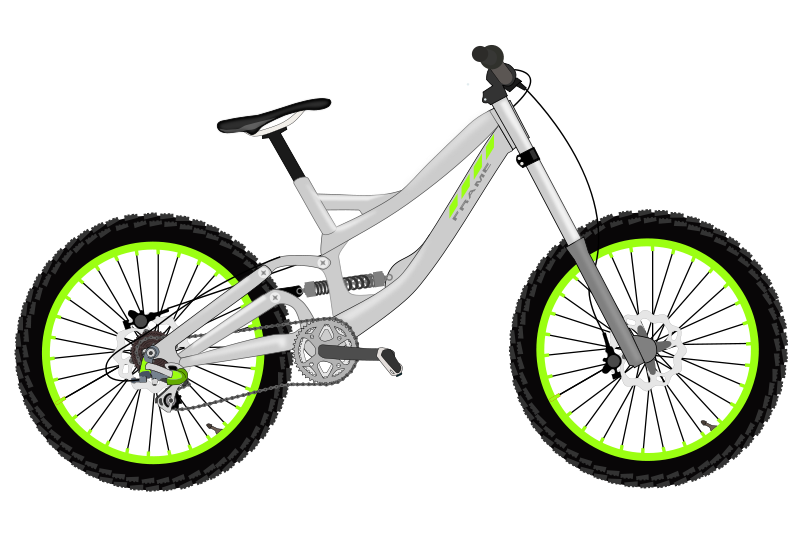 Bike image cartoon icon. Clipart bicycle transportation