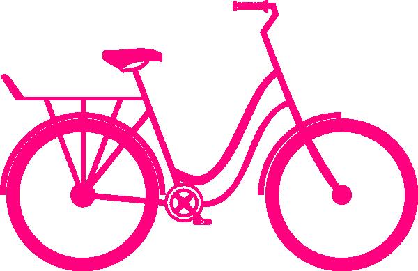 Clip art at clker. Clipart bike pink