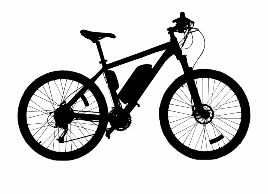 Bicycle cycling drive profile. Clipart bike side view