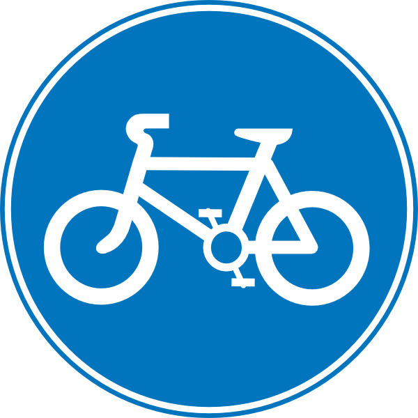 Road signs clip art. Cycle clipart bicycle sign