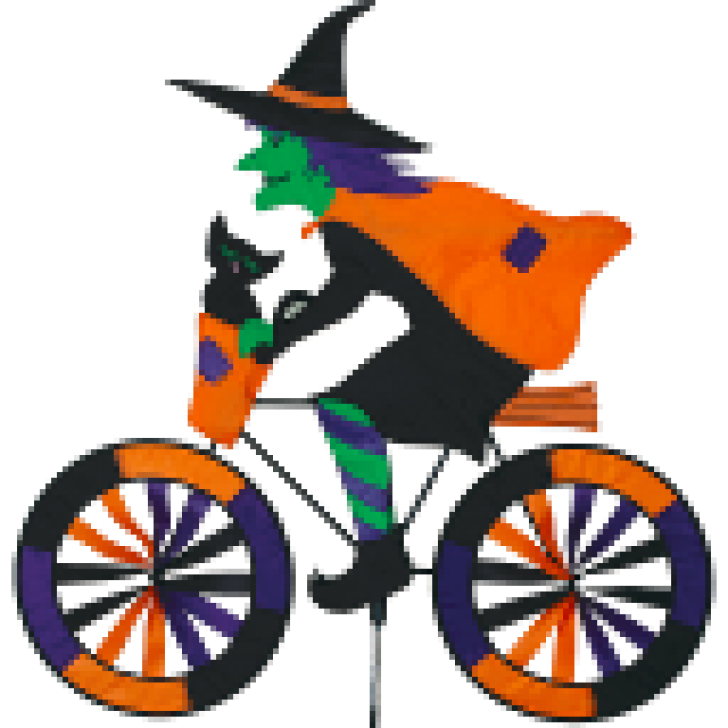 Clipart bike spin bike. Witch on a bicycle