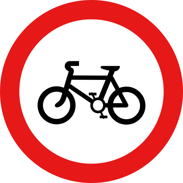 Svg road signs clip. Cycle clipart bicycle sign