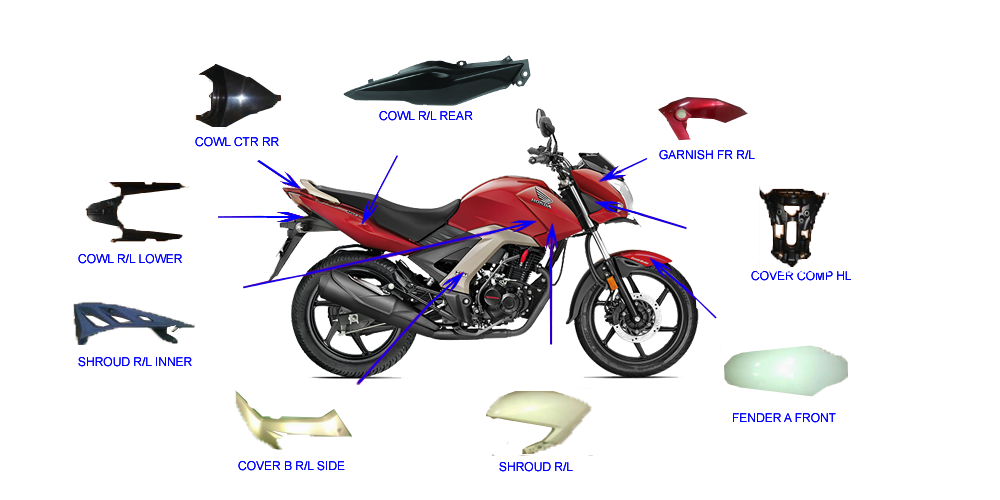 Scooter clipart two wheeler. Parts honda