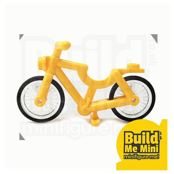 Clipart bike yellow bike. Lego minifigure bicycle colours