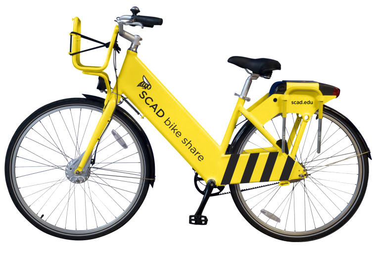 Clipart bike yellow bike. Scad share socialbicycles