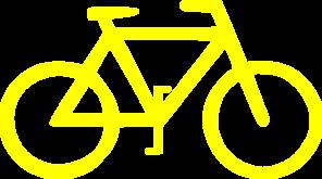 Clipart bike yellow bike. Clip art at clker