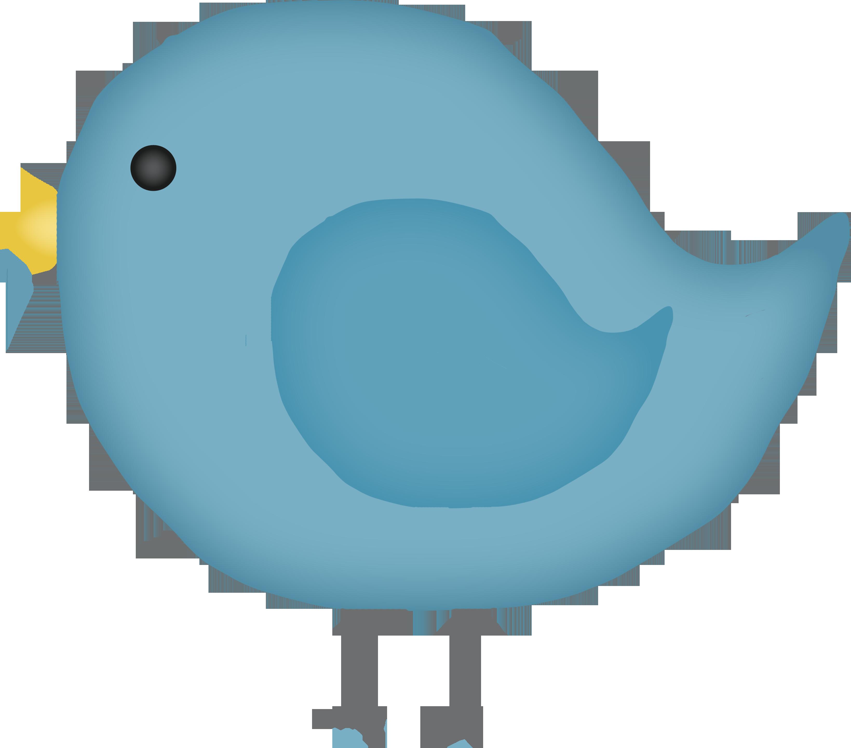 Little blue cartoon . Clipart bird animated