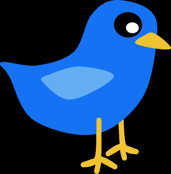 Blue birds free clip. Clipart bird animated
