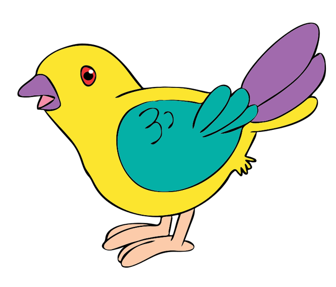 Birds animated