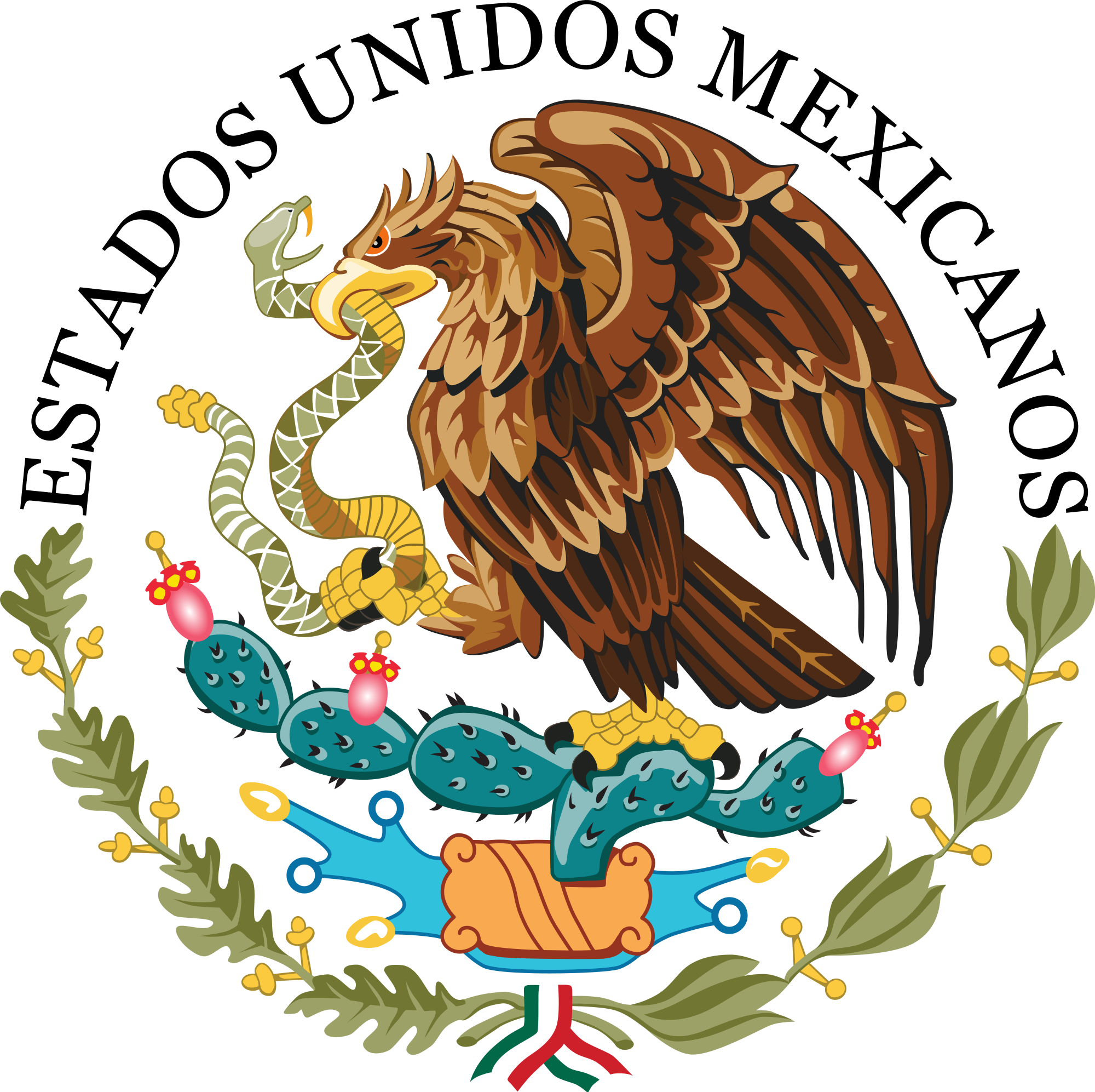 Eagle clipart printable. Coat of arms mexico