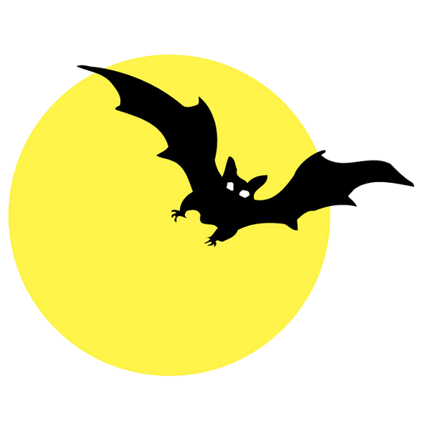 Clipart moon scary. Halloween bat clip art