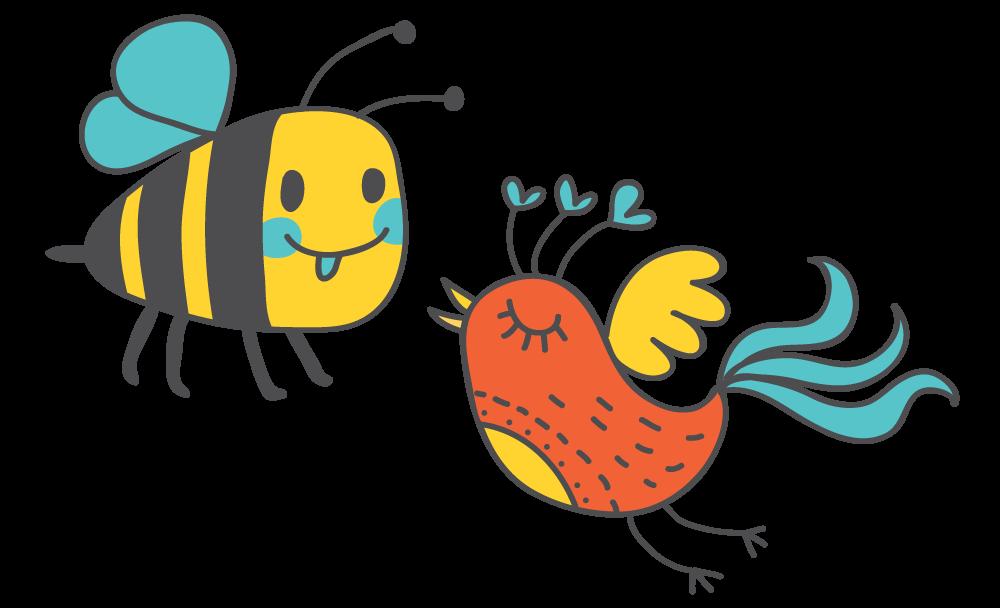 Bees bird pencil and. Clipart birds bee