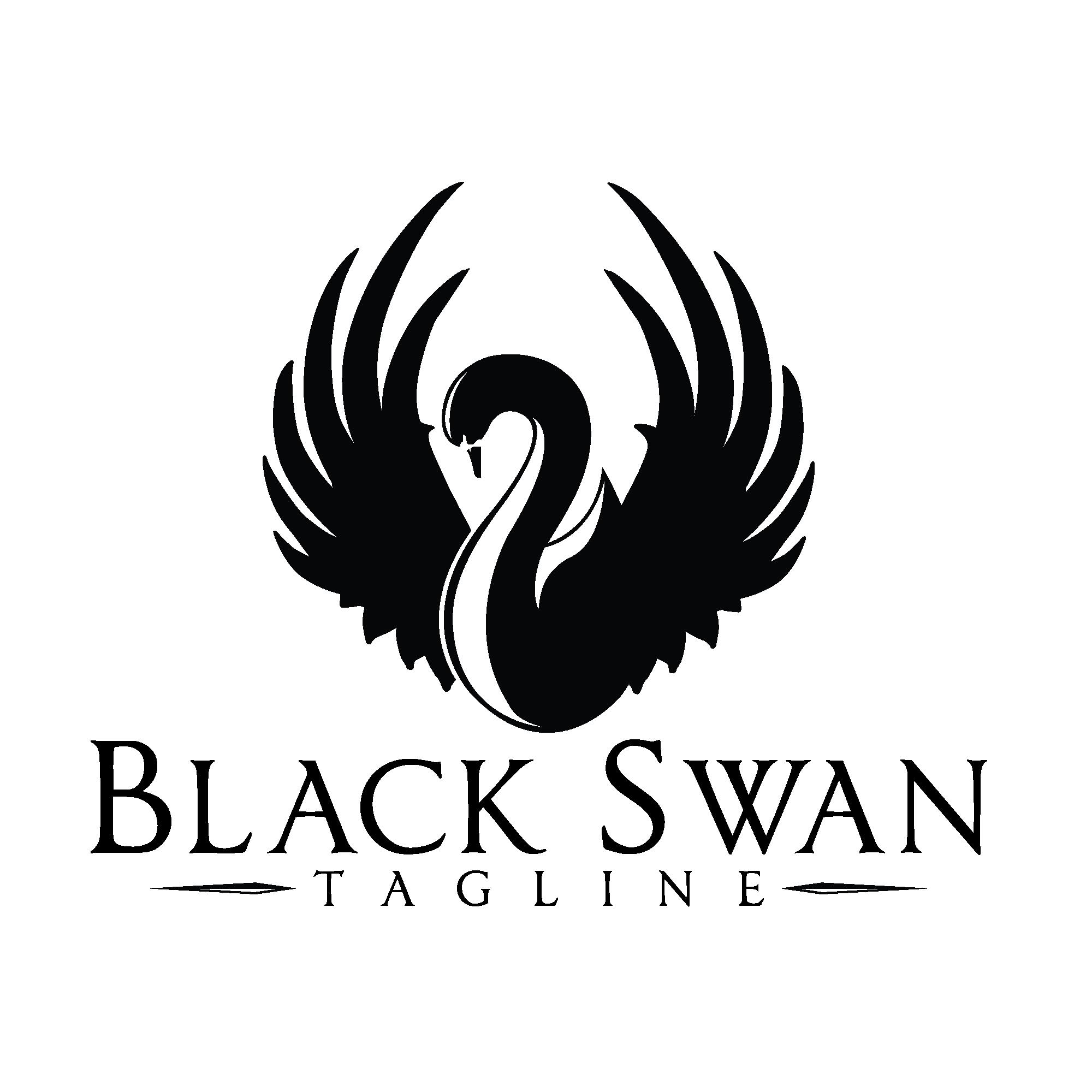Clipart wedding swan. Black logo logos design