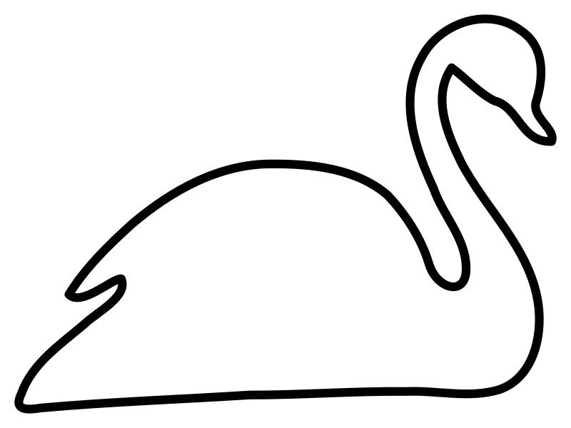 White medium image png. Clipart birds black swan