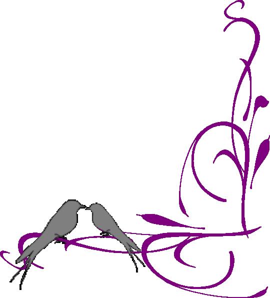 Clipart free bridal shower. Floral swirly bird bottom