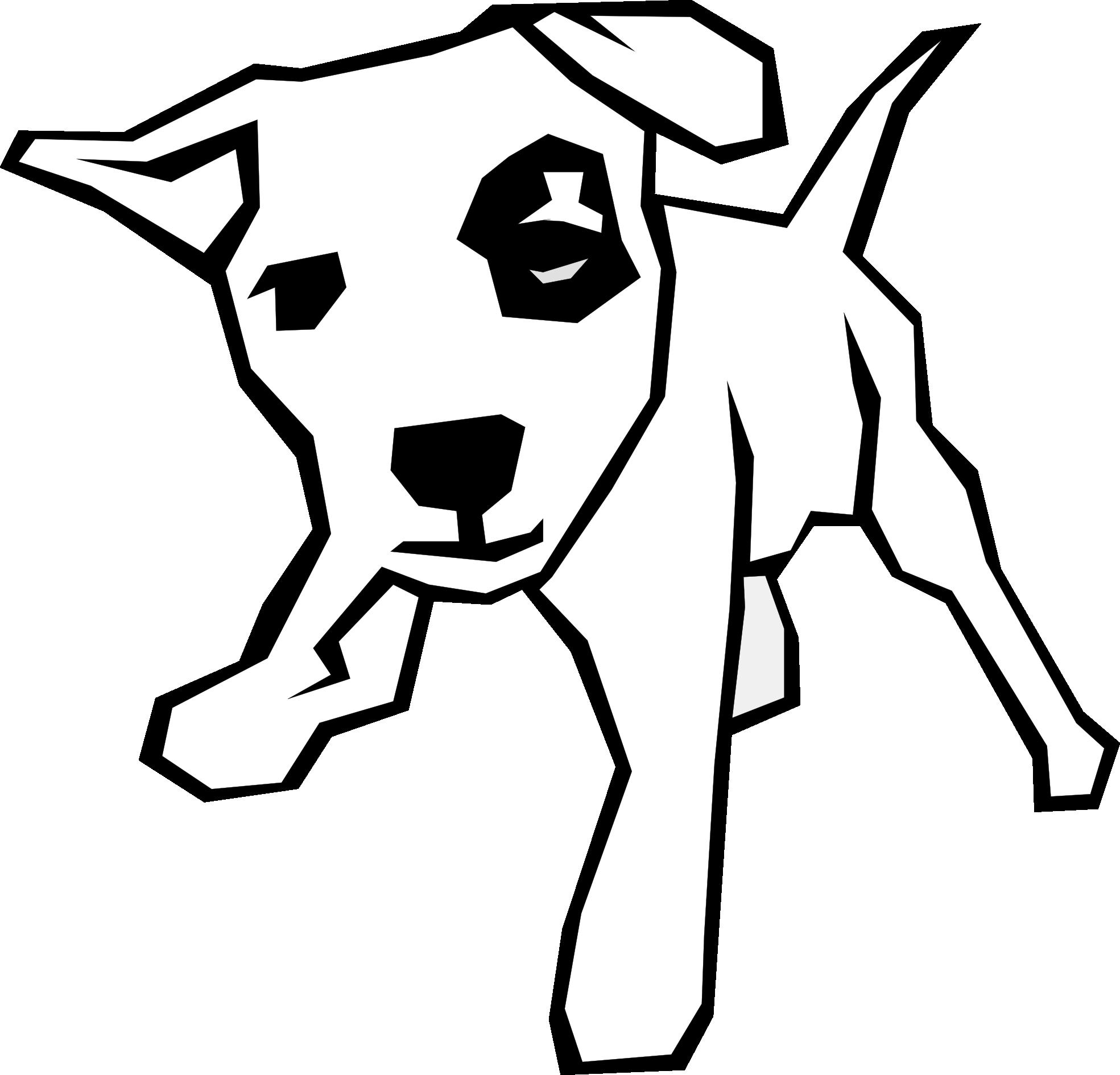 Kangaroo clipart black and white. Dog bone clip art