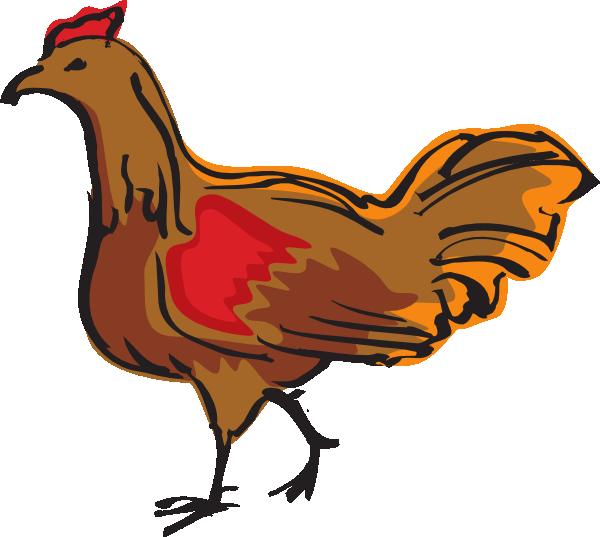 Walking brown clip art. Families clipart chicken