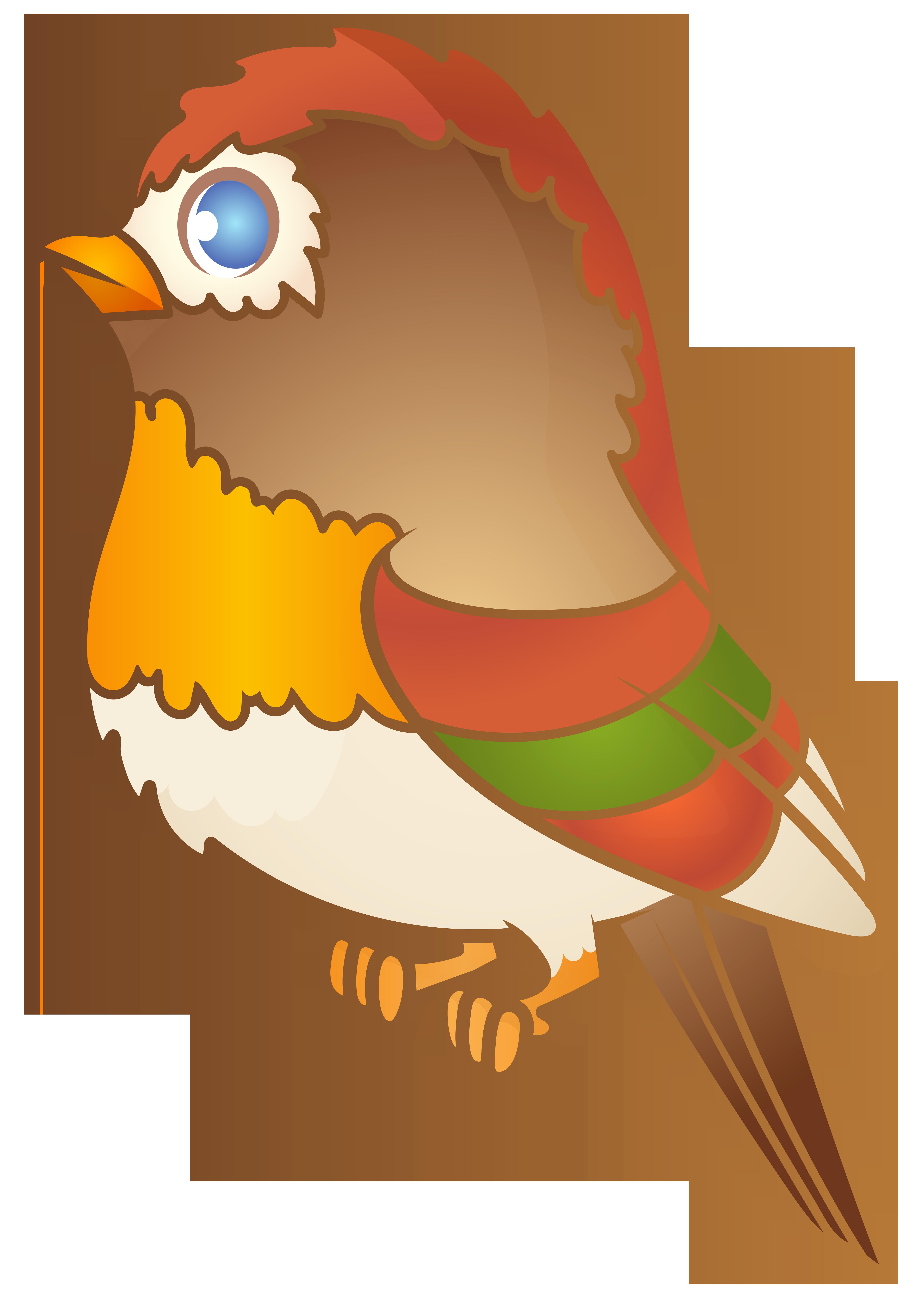 Clipart summer bird. Brown cartoon png transparent