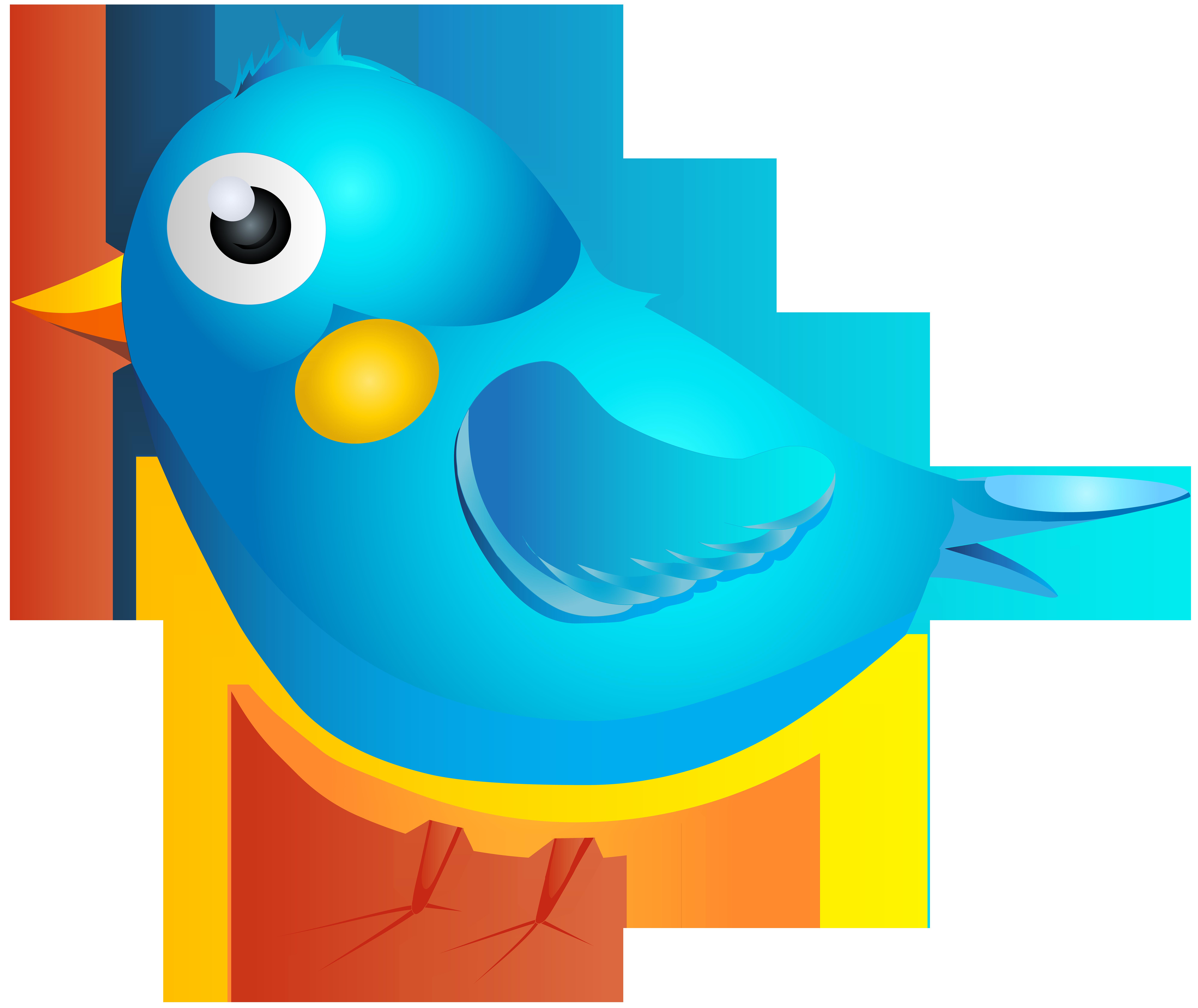 Blue transparent png image. Clipart bird cartoon