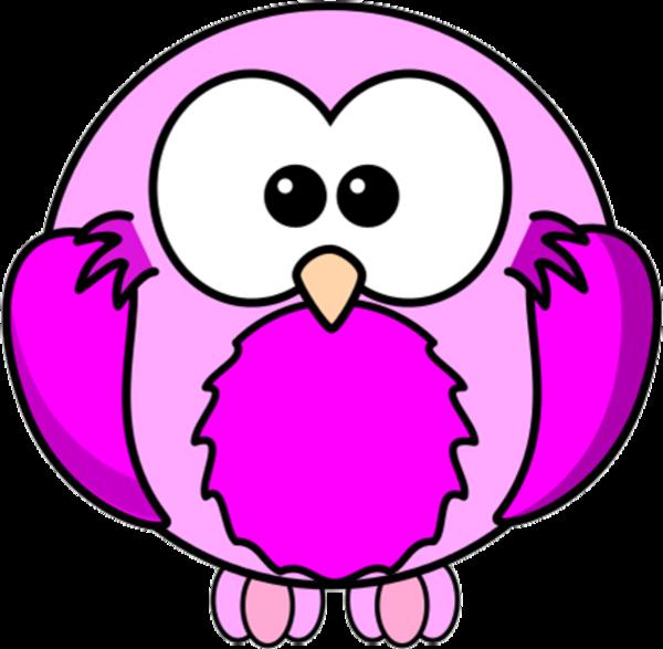 Clipart bird cartoon. Lilac pink robin free
