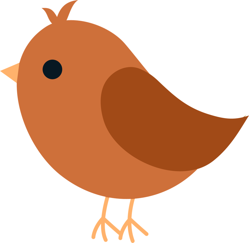 Clipart bird cartoon. Orange villa musica