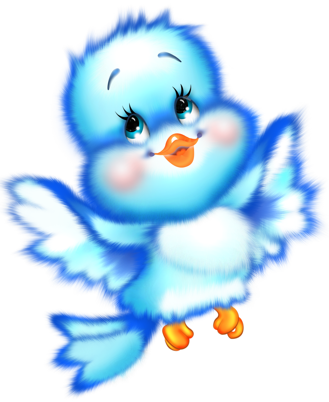 Cute blue free gallery. Clipart bird cartoon