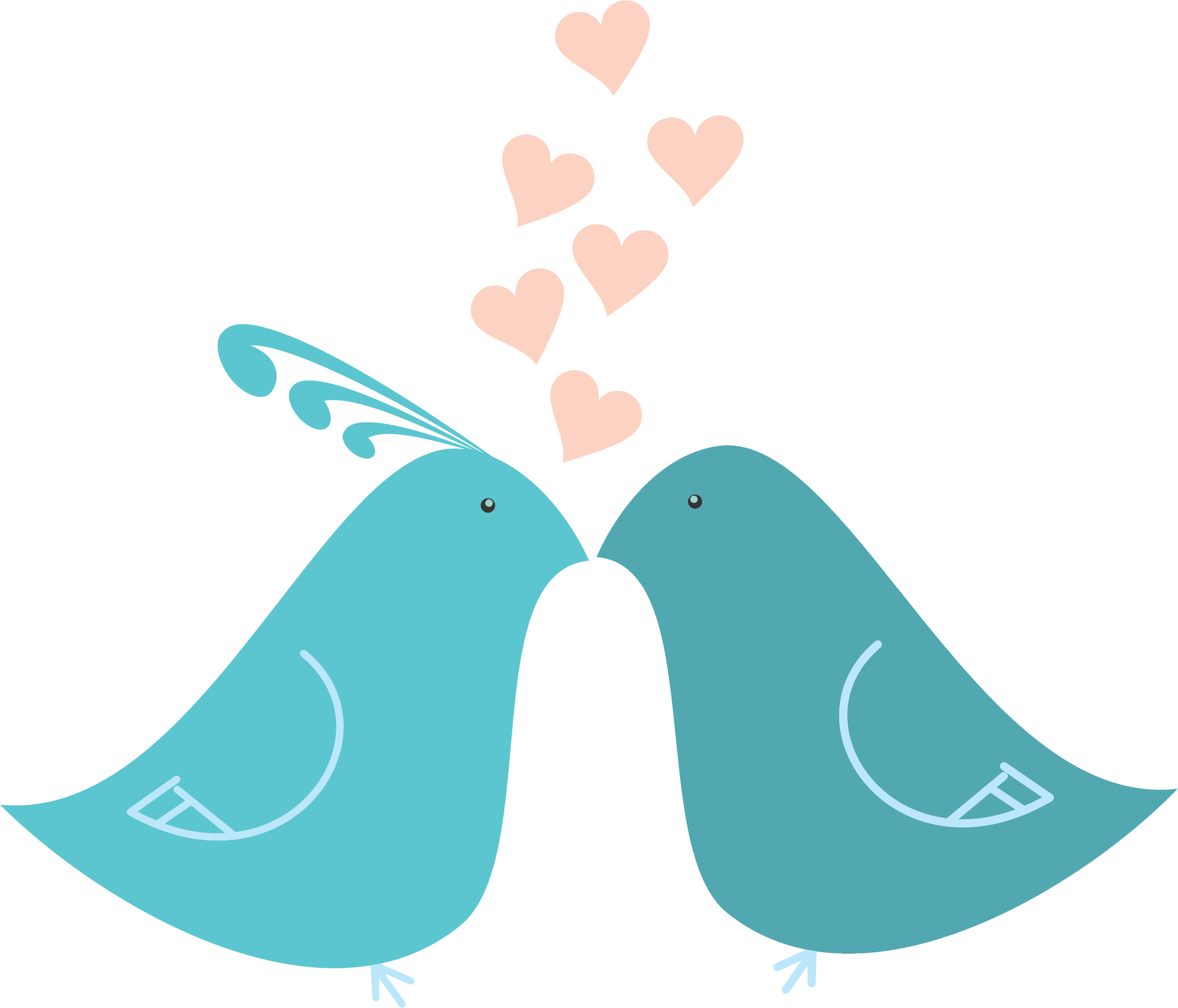 collection of love. Couple clipart bird
