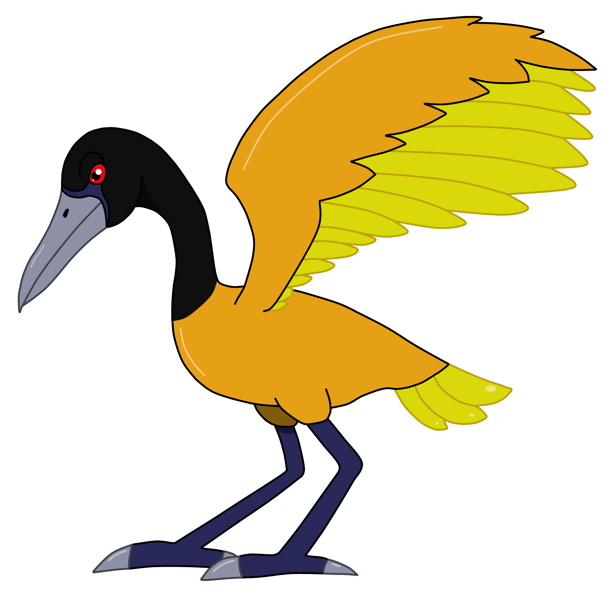 Stymphalian bird by cryoflaredraco. Crane clipart animal