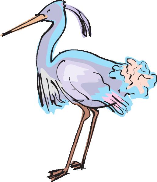 Purple and clip art. Clipart birds blue heron