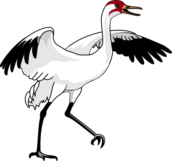 Swan clip art at. Crane clipart animal
