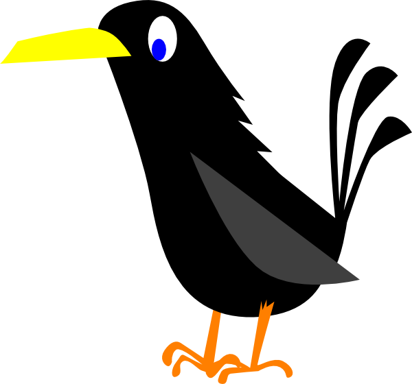 Crow cartoon crows pinterest. Nest clipart kid