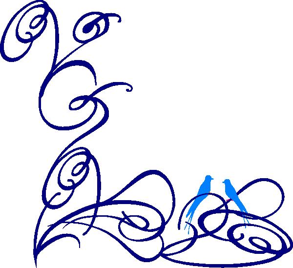 Bird swirl clip art. Decorative clipart squiggly line
