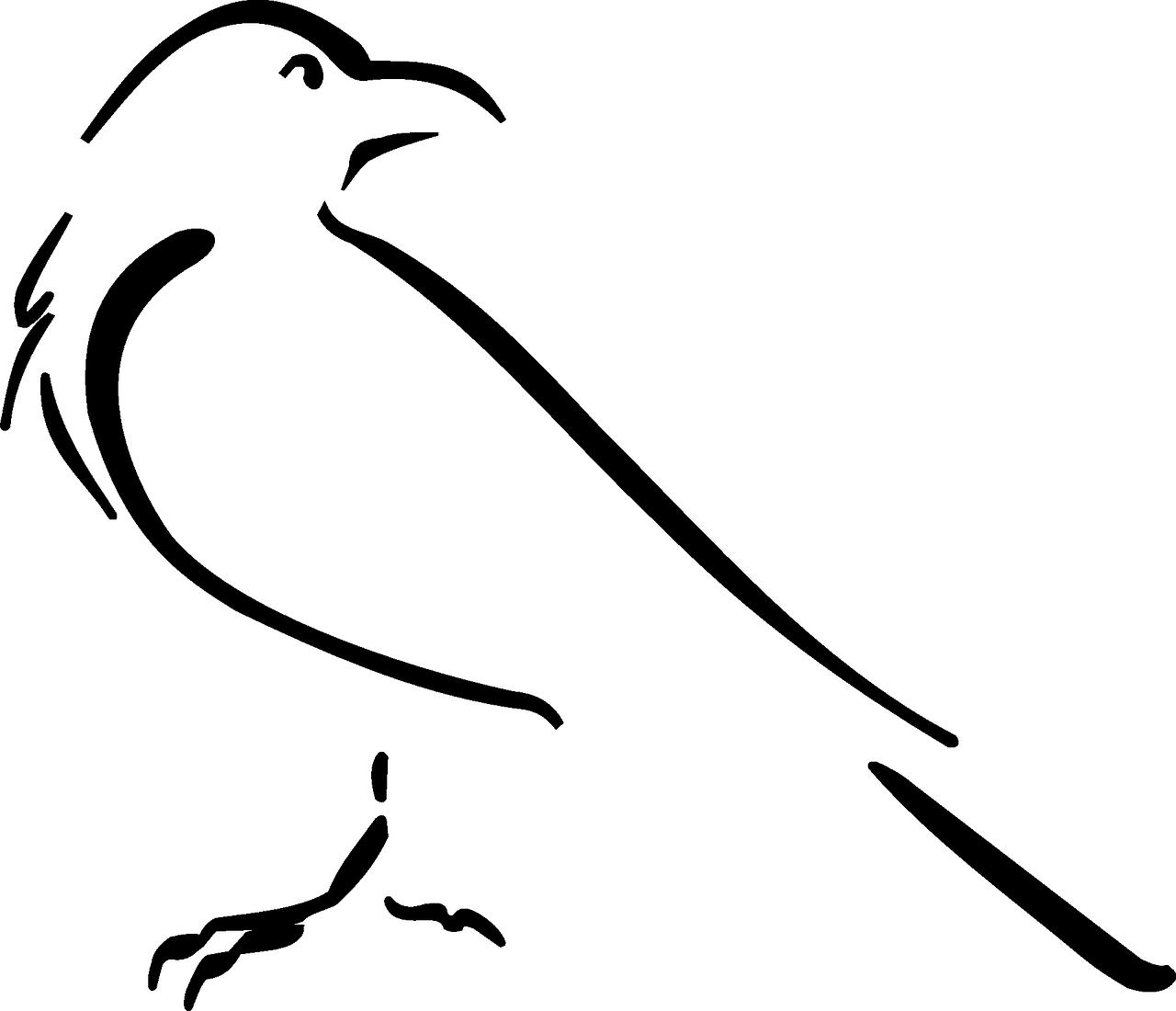 Free image on pixabay. Clipart bird doodle