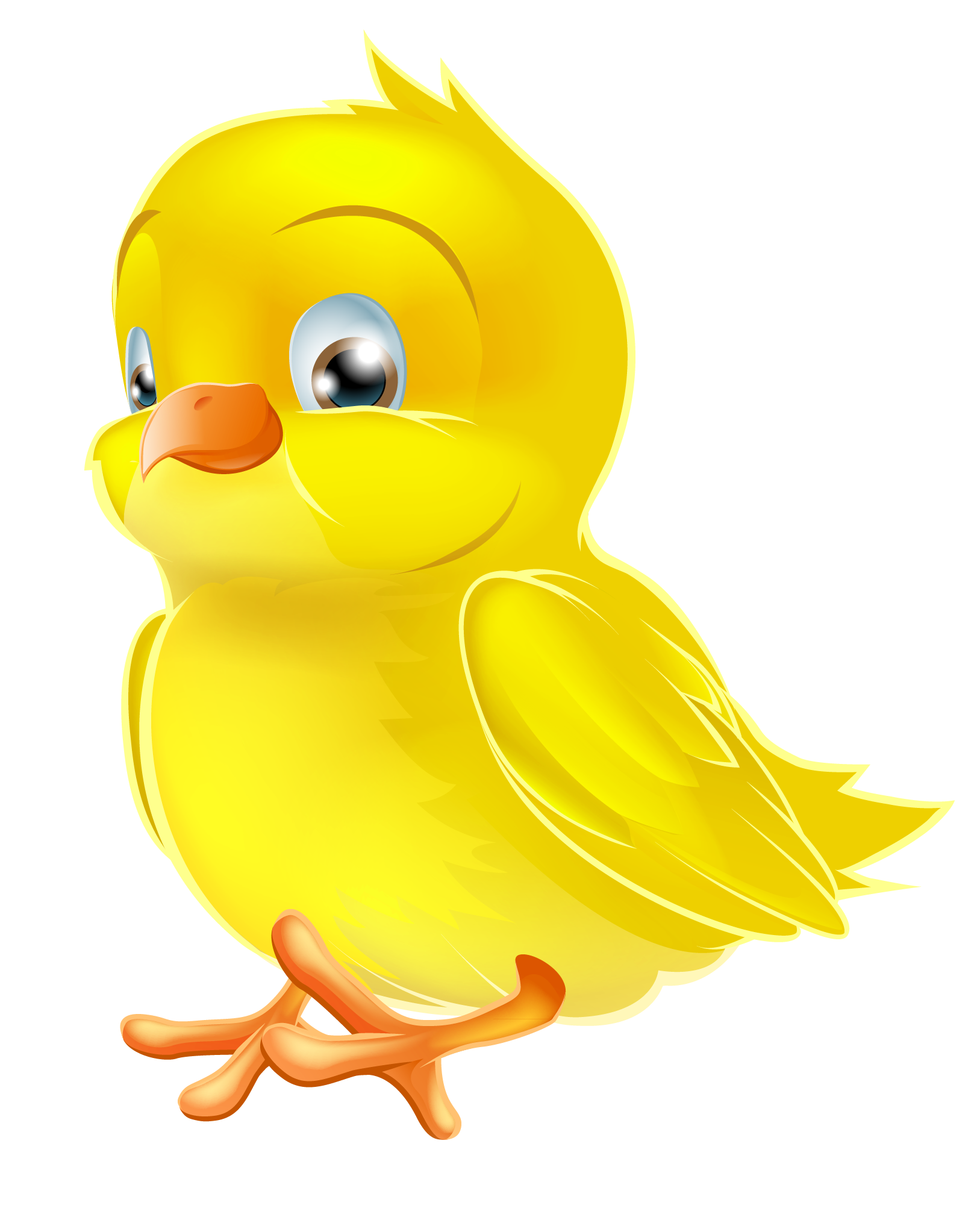 Ducks clipart painting. Painted yellow easter chick