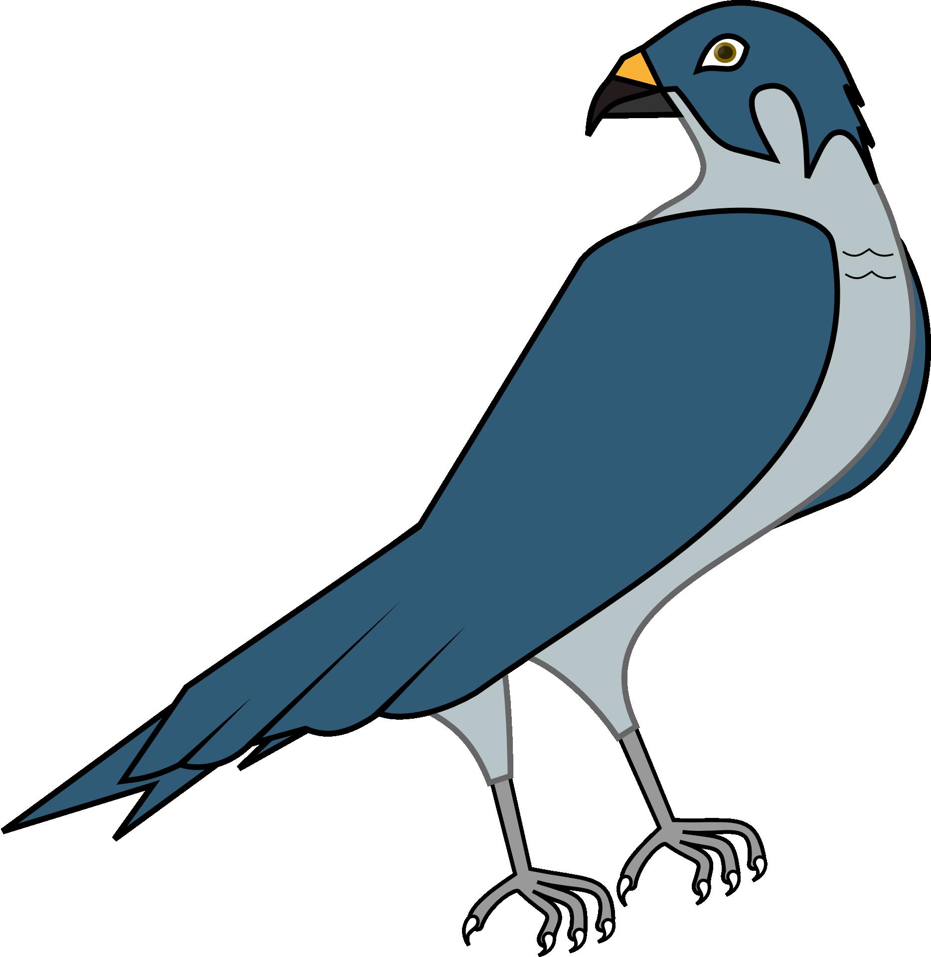 The peregrine falcon clip. Clipart birds falcons