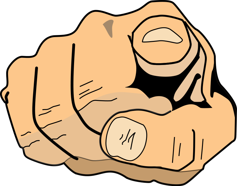Middle finger the cliparts. Fingers clipart silent