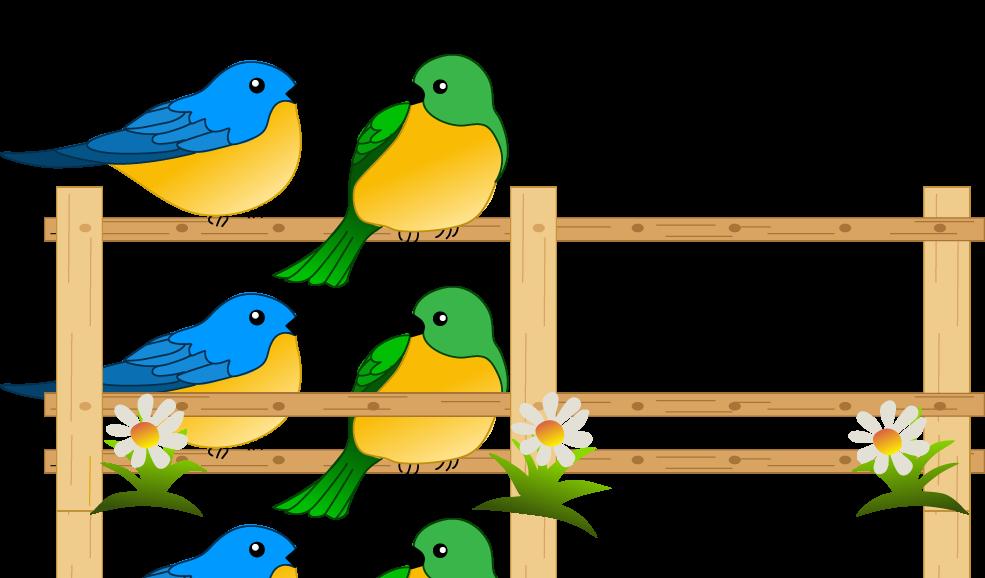 Flower garden gardening clip. Clipart birds borders