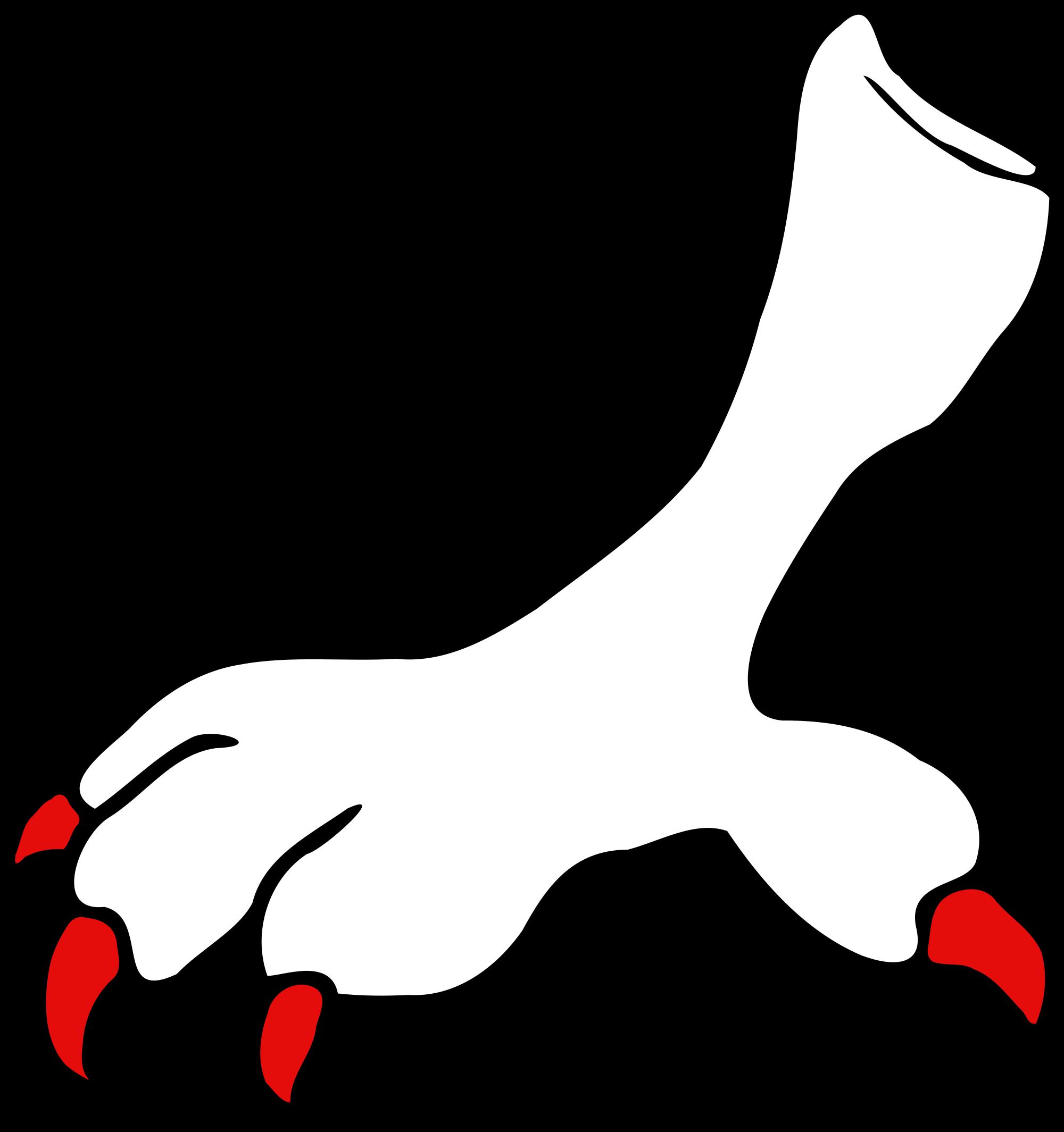 Feet clipart bird. File heraldique serre svg