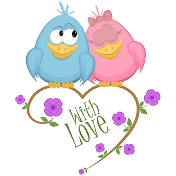 Flour clipart animated. Cute love birds cartoon