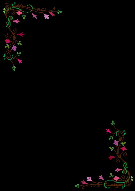 Free printable clip art. Clipart roses frame