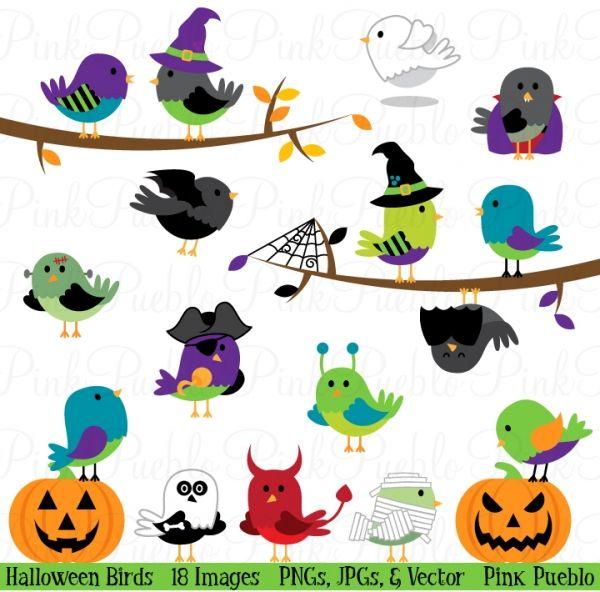 Clipart halloween bird. Birds and vectors happy