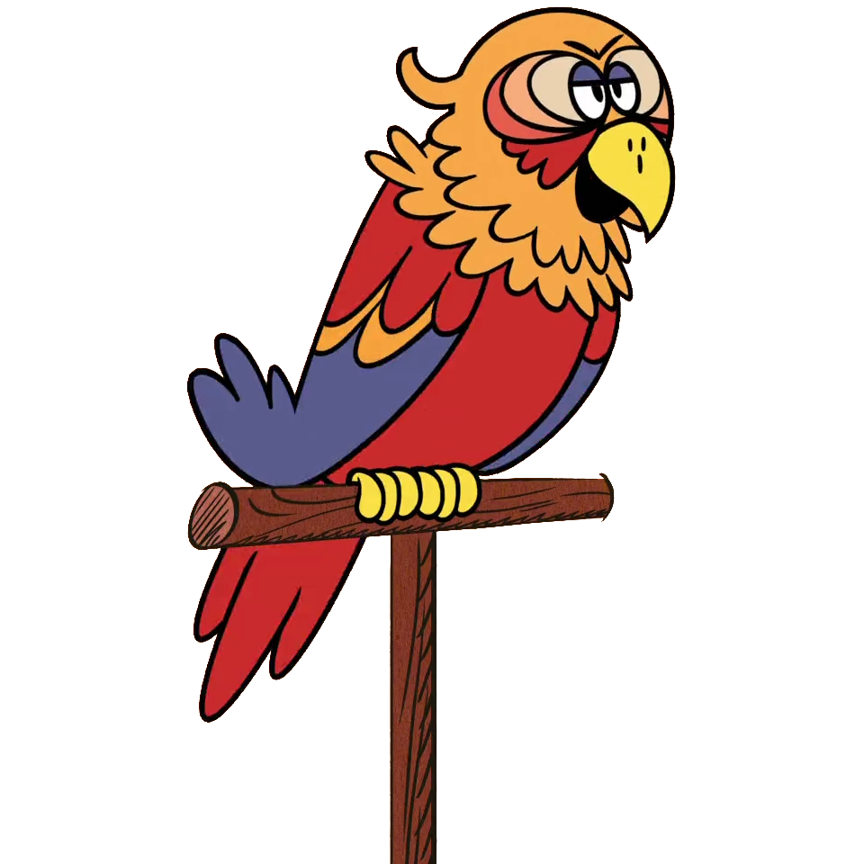 Sergio the loud house. Parrot clipart foot