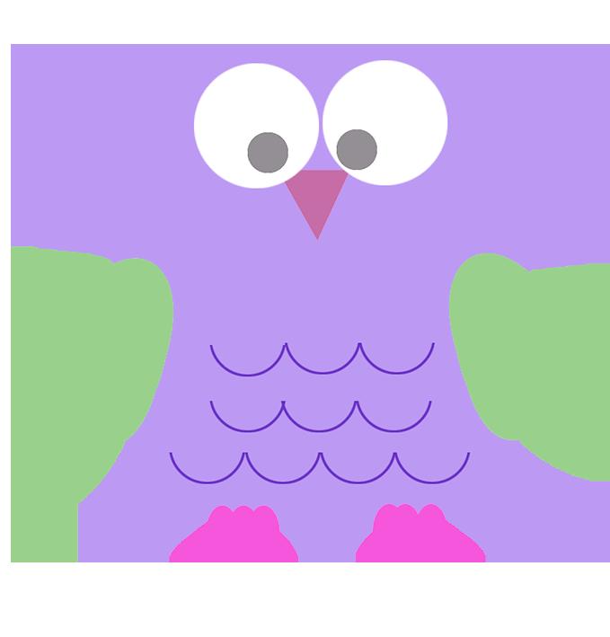 Owl clip art lila. Clipart bird lilac