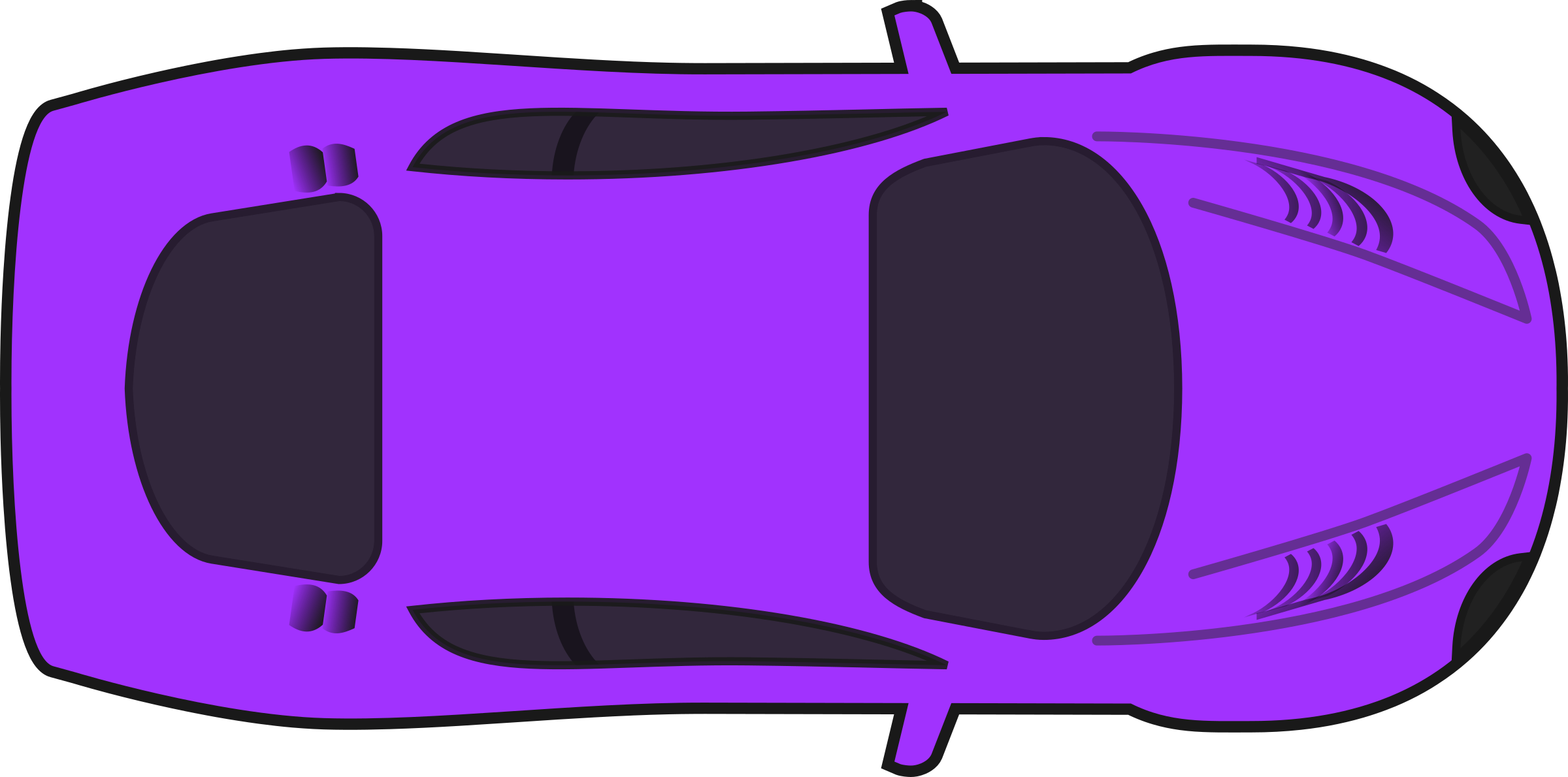 Purple racing car top. Clipart cars simple