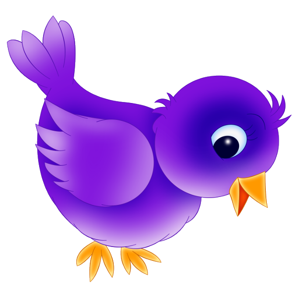 Purple clipart cute.  collection of bird