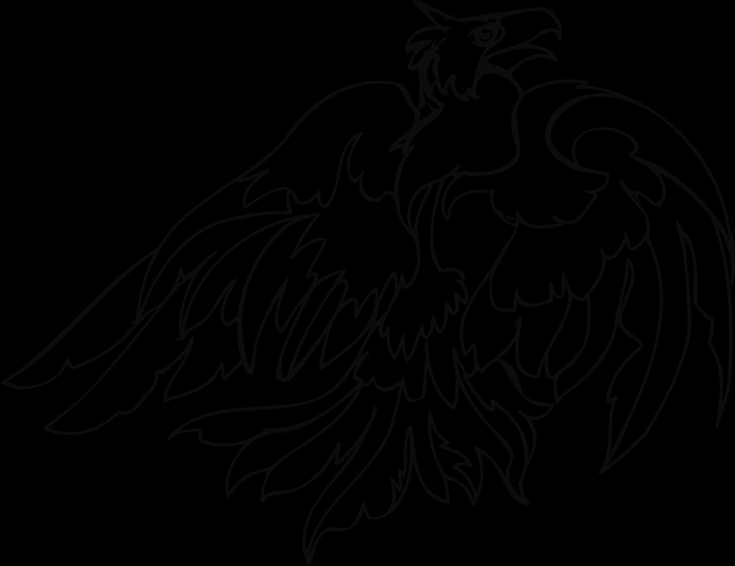 Clipart birds prey. Bird of line art