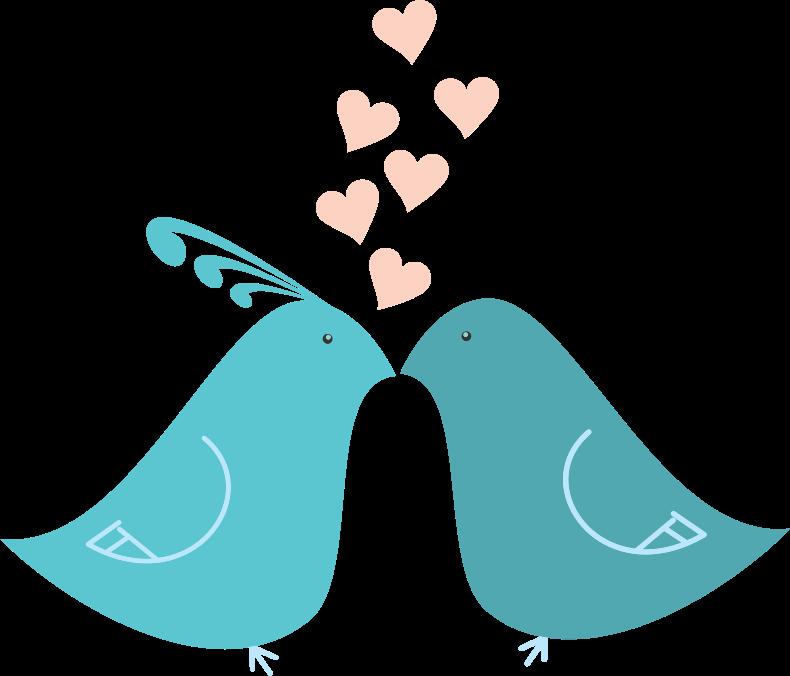 Love clipart love bird. Flat shaded birds medium