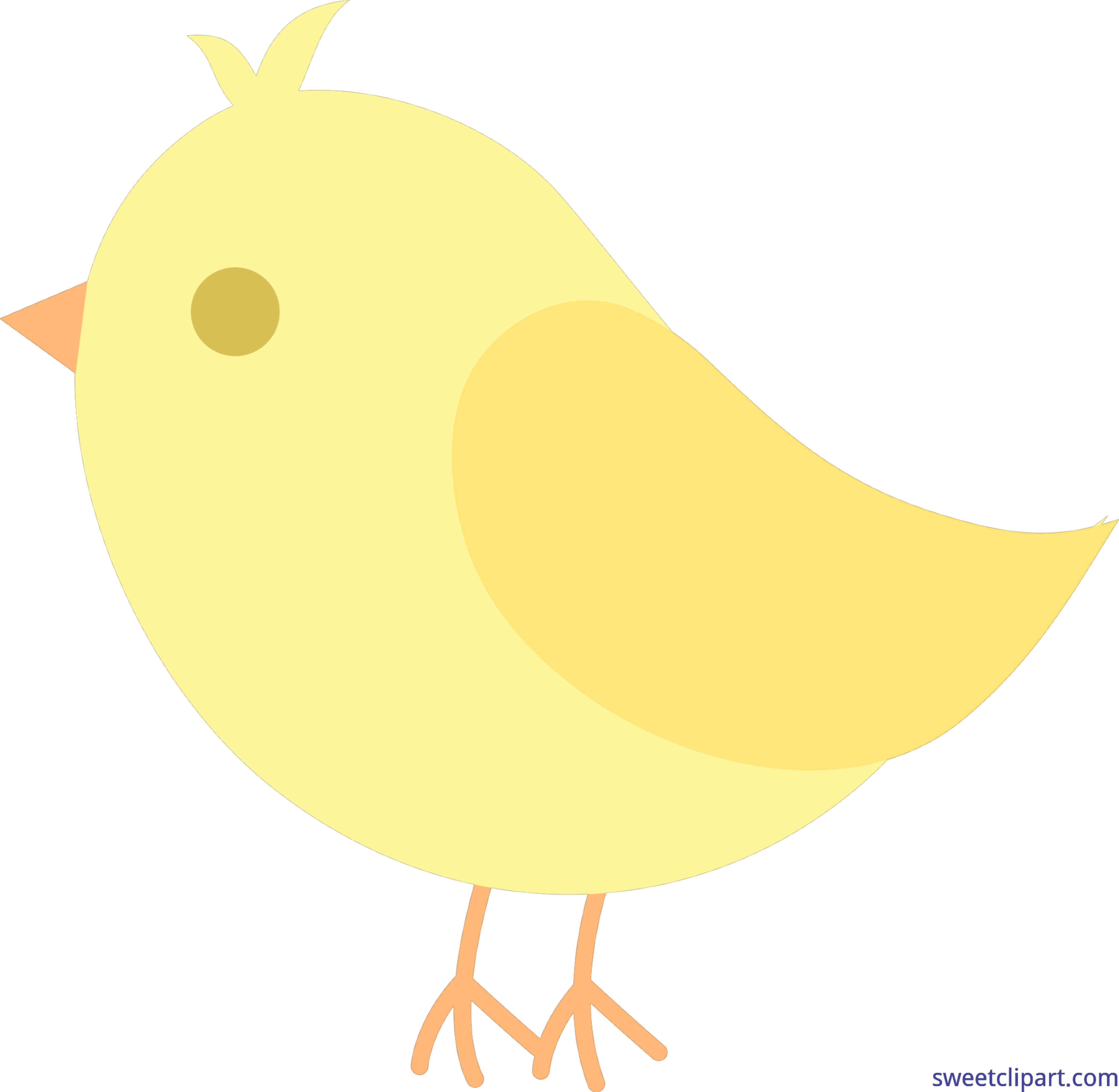 Cute clip art sweet. Nest clipart yellow bird