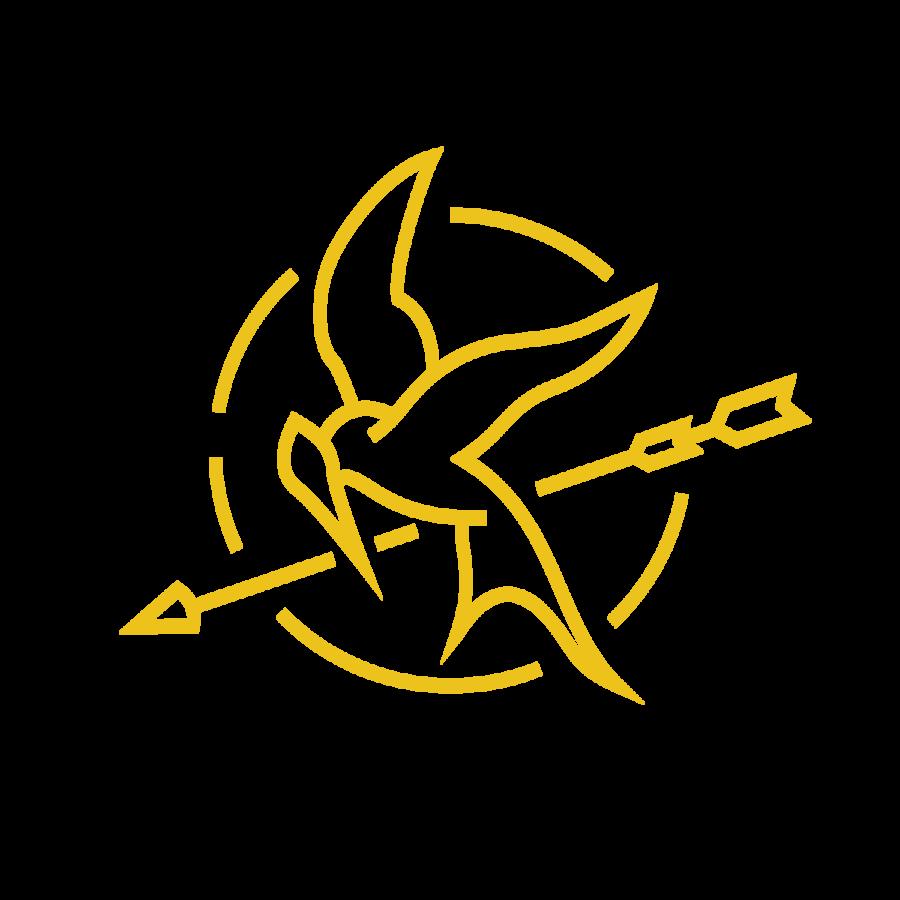 The hunger games symbol. Clipart bird mockingjay
