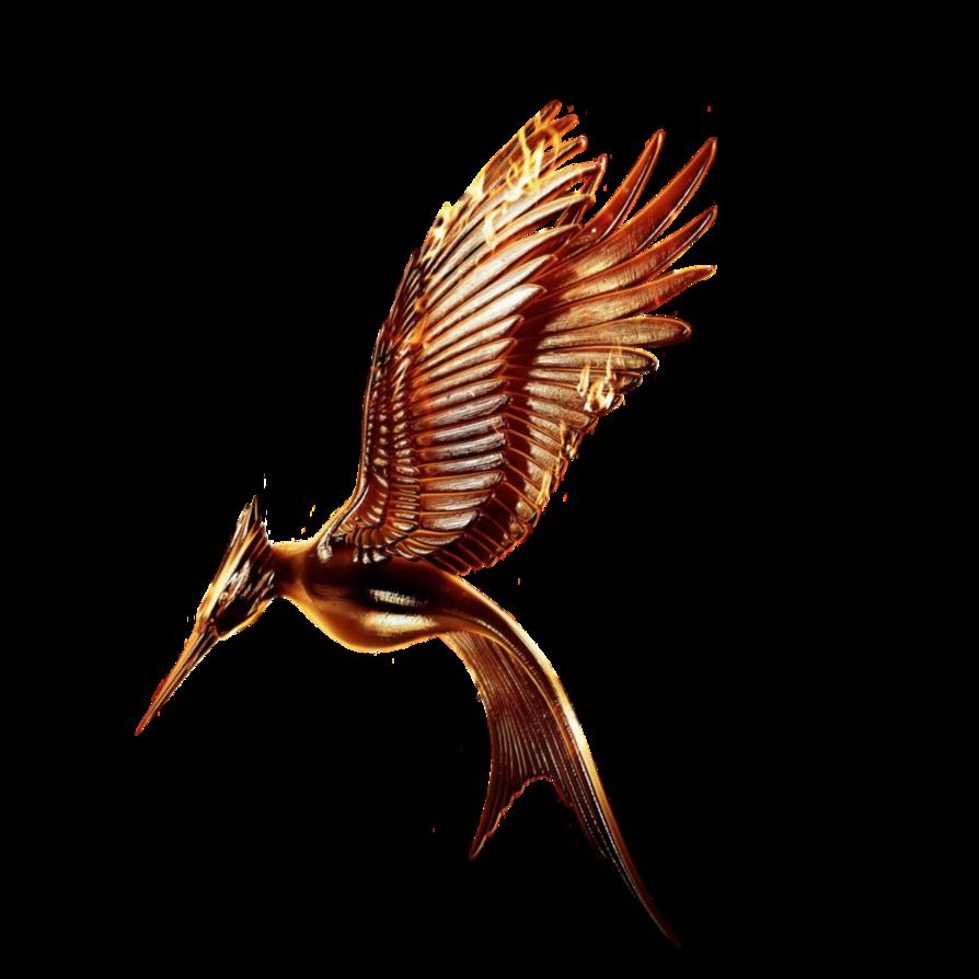 Catching fire movie logo. Clipart birds mockingjay